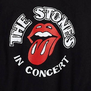 The Rolling Stones Shirts - Rolling Stones In Concert Logo T-Shirt M L XL NWT